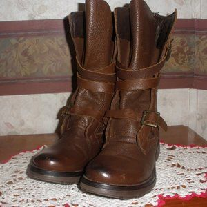 Steve Madden Women's Brown Leather Strap Boots 6.5
